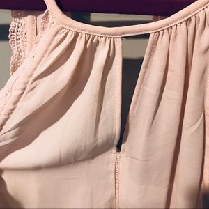 Tops - Long swing soft pink tank with tassel ties small